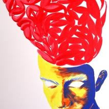 Brain. 2014. acrylic on paper. 60cm x 40cm.