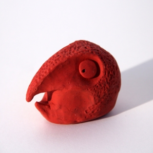 Study of Harrison's Parrot. 2012. Plasticine. 10cm x 10cm x 10cm.