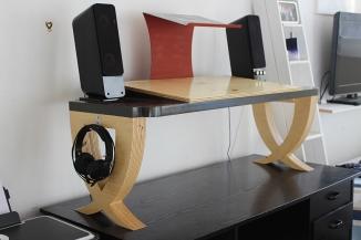 DJ Desk. 2015. timber. Dimensions variable.