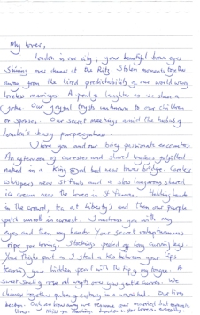 Art of Letter Writing. 2012. Hand-written letter.