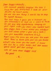Art of Letter Writing. 2012. Hand-written letter.