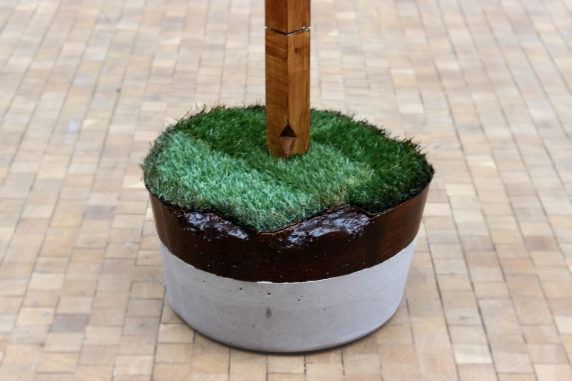 Neither Here Nor There. 2013. concrete, Astroturf, acrylic, timber. Dimensions variable.