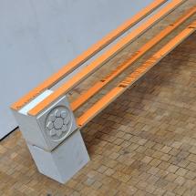 Shoe rack. 2016. Jesmonite, Portland stone, plywood and laminate.