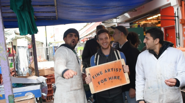Fine Artist for Hire. 2015. Performance. 120 mins. Ridley Road Market, London.