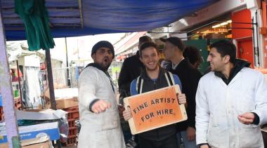 Fine Artist for Hire. 2015. Performance. 120 mins. Ridley Road Market, London.