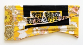 The Body Unbeautiful. 2016. timber and screen-printed vintage fabrics. 15cm x 35cm x 10cm.