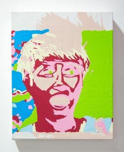 Incomplete Harmony (#5). 2016. Oil & acrylic on canvas. 25cm x 20cm x 5cm.