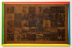 Twinned Cities (Kawasaki). 2016. Photo-transfer on plywood painted in Google colours. 38cm x 60cm x 2cm.