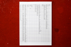 Everyone I've Ever Met. 2014-ongoing. Microsoft Excel spreadsheet printed on paper.
